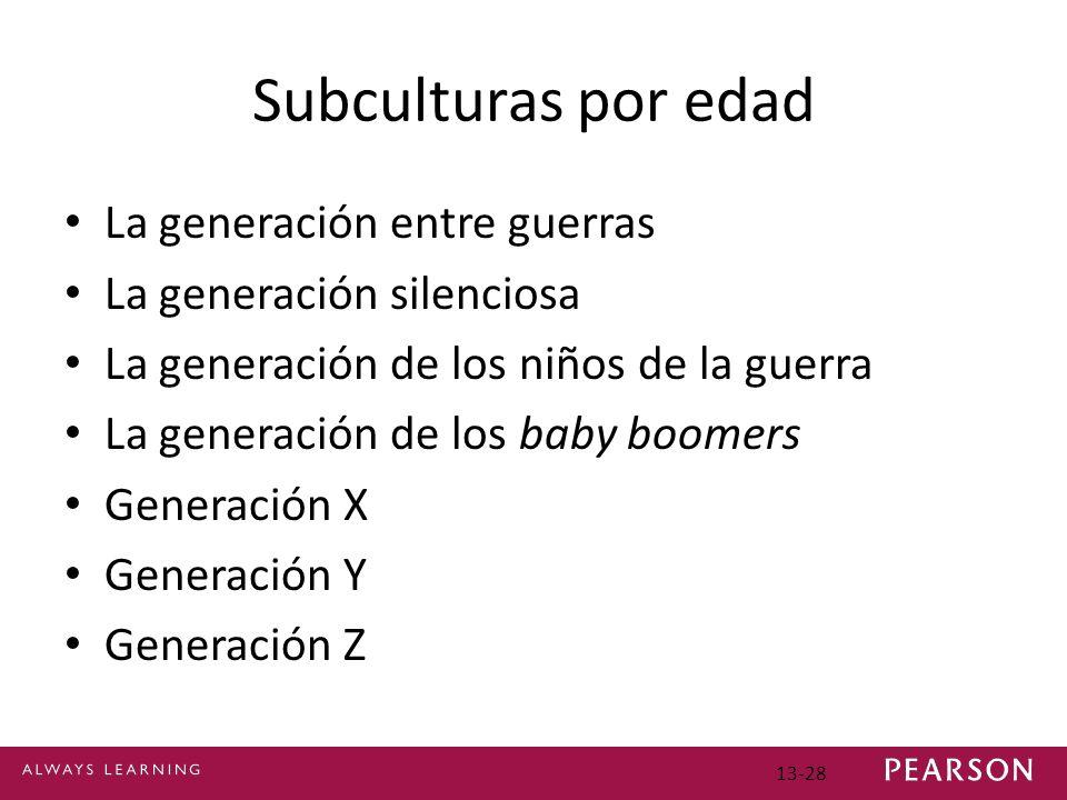 Subculturas por edad La generación entre guerras