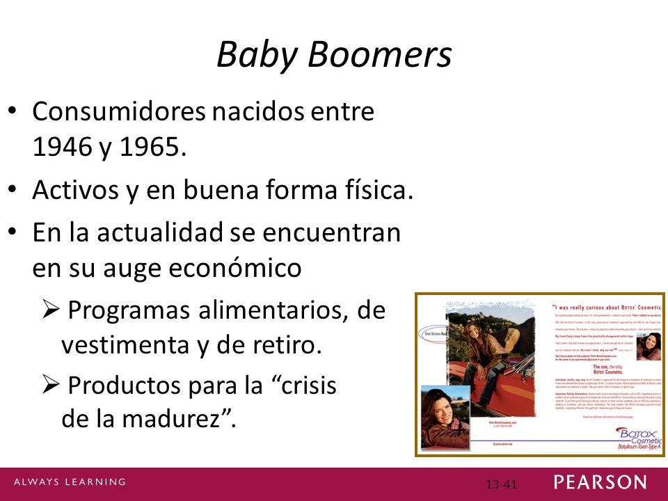 Baby Boomers Consumidores nacidos entre 1946 y 1965.