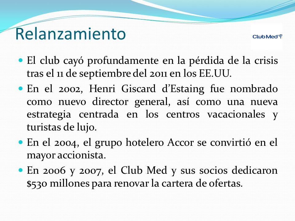 Relanzamiento El club cayó profundamente en la pérdida de la crisis tras el 11 de septiembre del 2011 en los EE.UU.