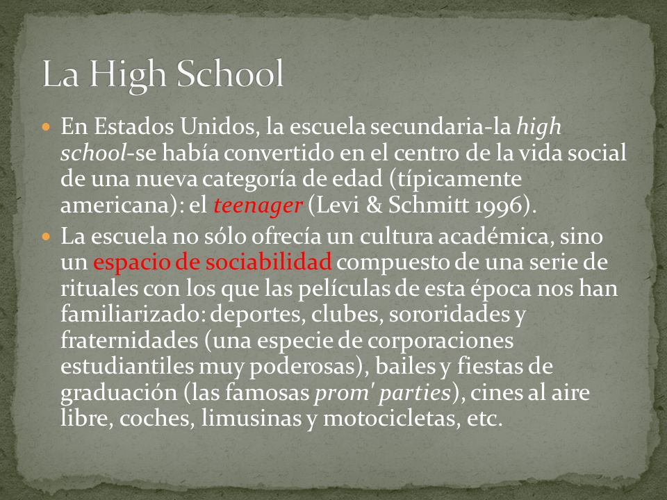 La High School