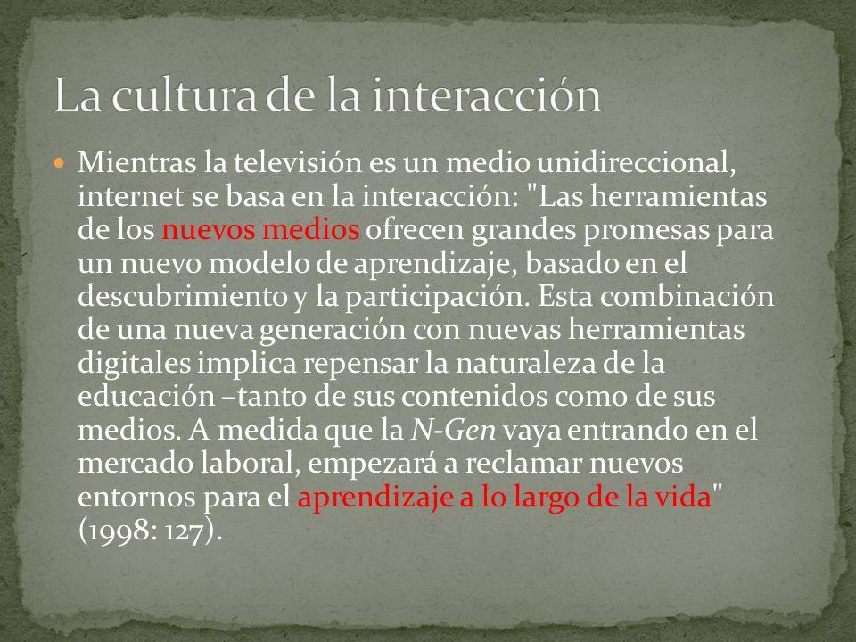 La cultura de la interacción