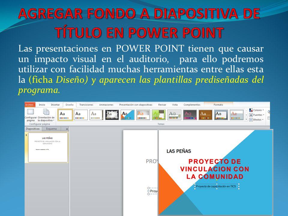 AGREGAR FONDO A DIAPOSITIVA DE TÍTULO EN POWER POINT