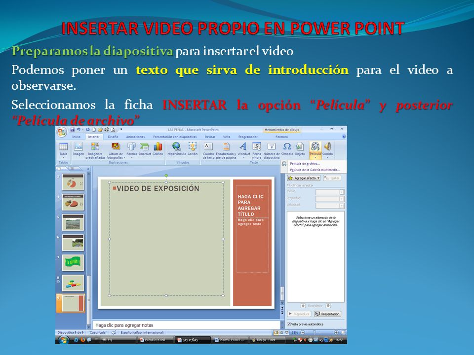 INSERTAR VIDEO PROPIO EN POWER POINT