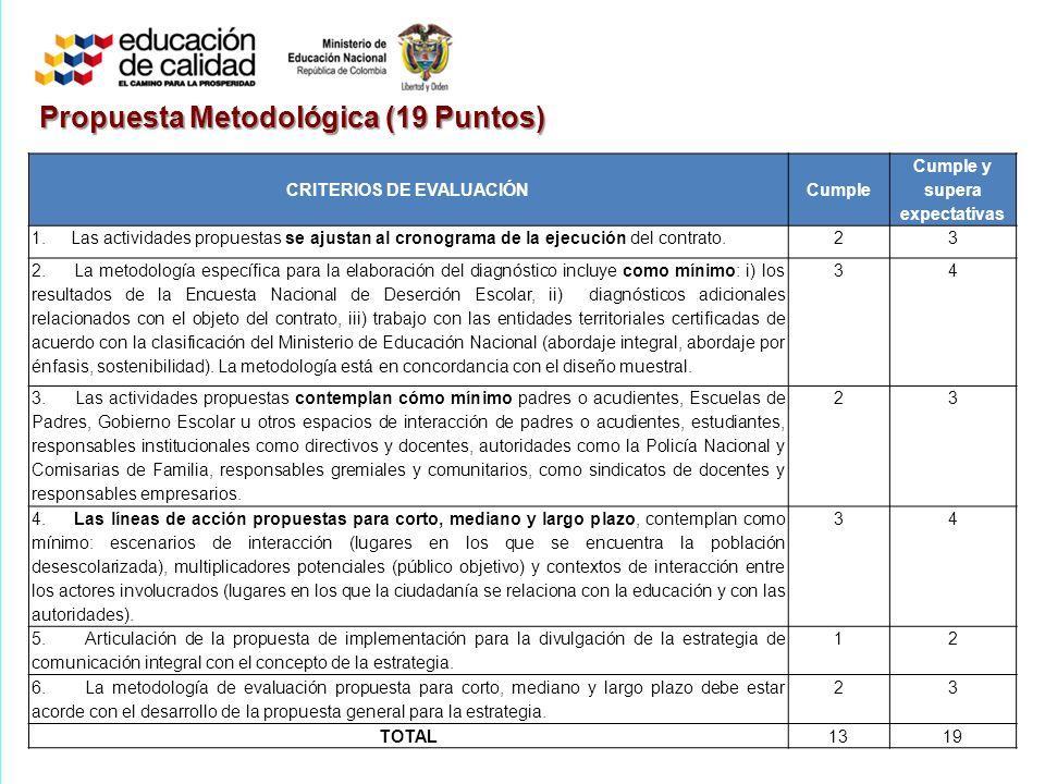 Propuesta Metodológica (19 Puntos)
