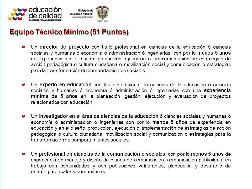 Equipo Técnico Mínimo (51 Puntos)