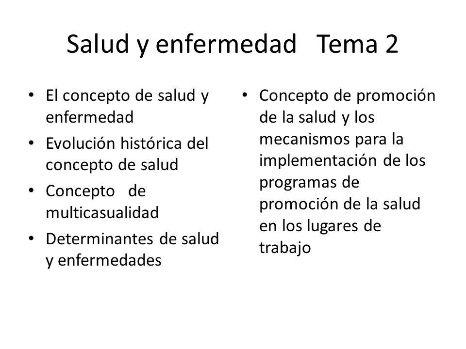 Salud y enfermedad Tema 2