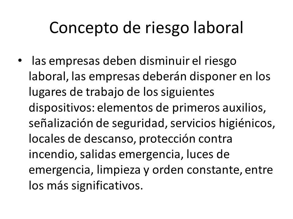 Concepto de riesgo laboral