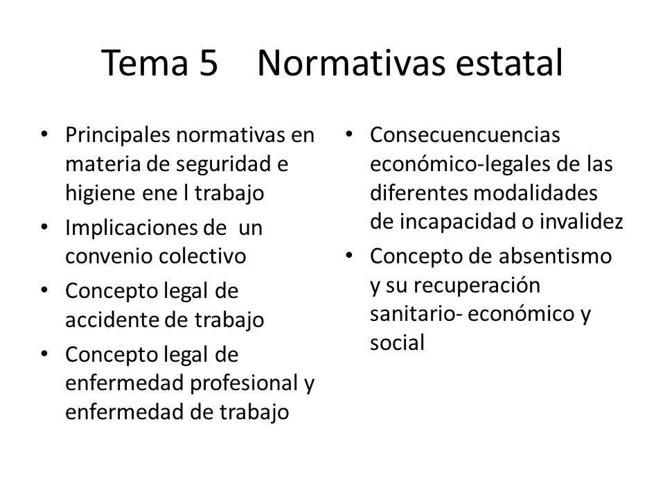 Tema 5 Normativas estatal