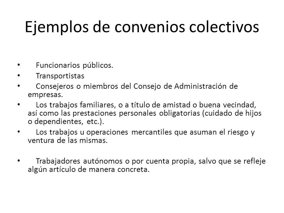 Ejemplos de convenios colectivos