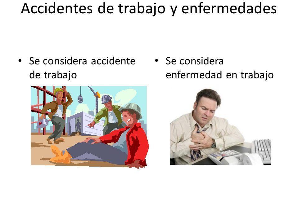 Accidentes de trabajo y enfermedades