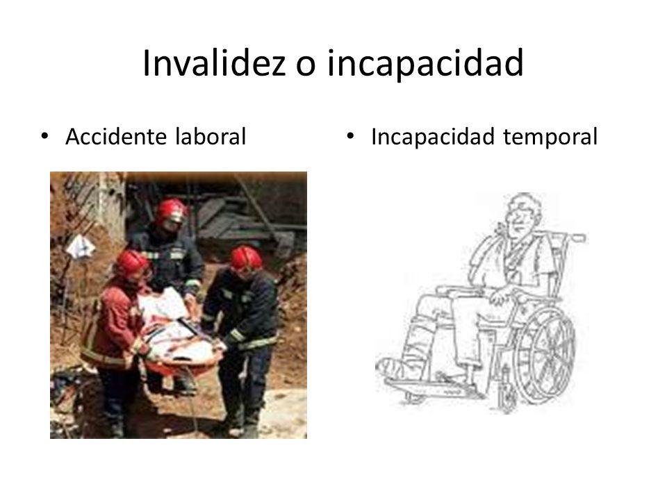 Invalidez o incapacidad