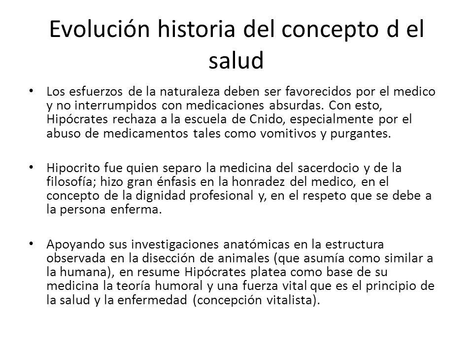 Evolución historia del concepto d el salud
