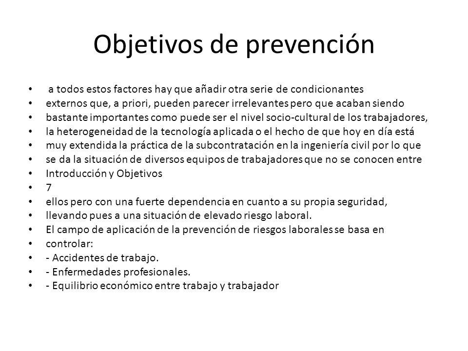 Objetivos de prevención