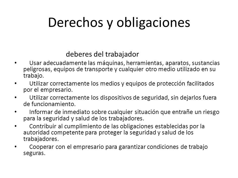 Derechos y obligaciones