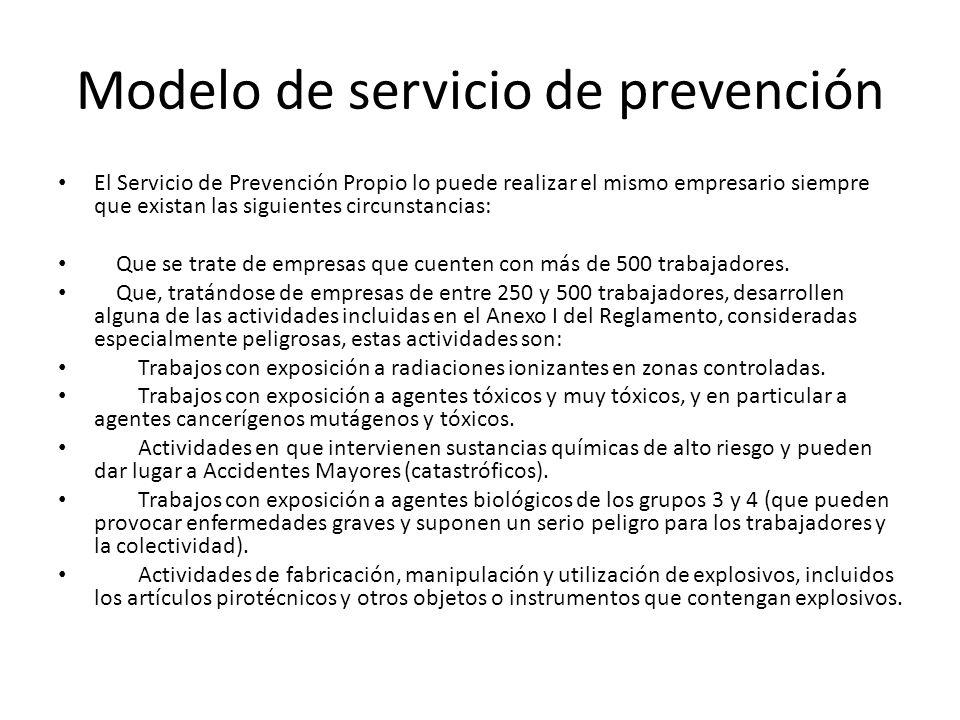 Modelo de servicio de prevención