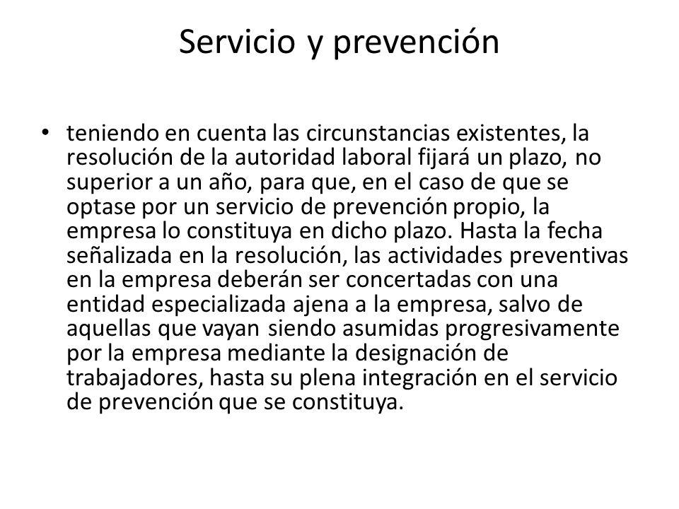 Servicio y prevención