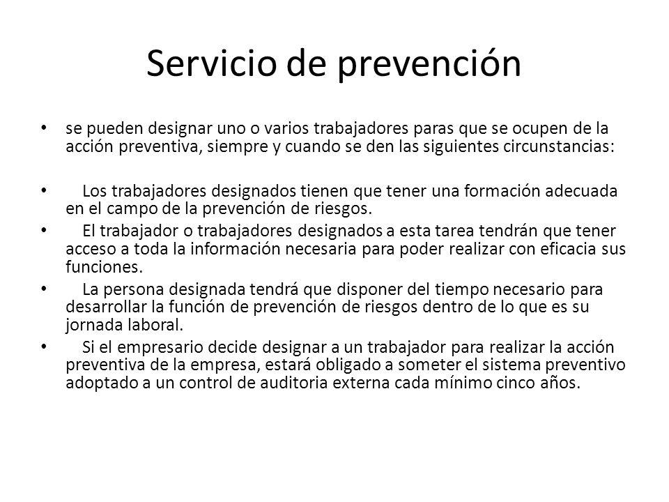 Servicio de prevención