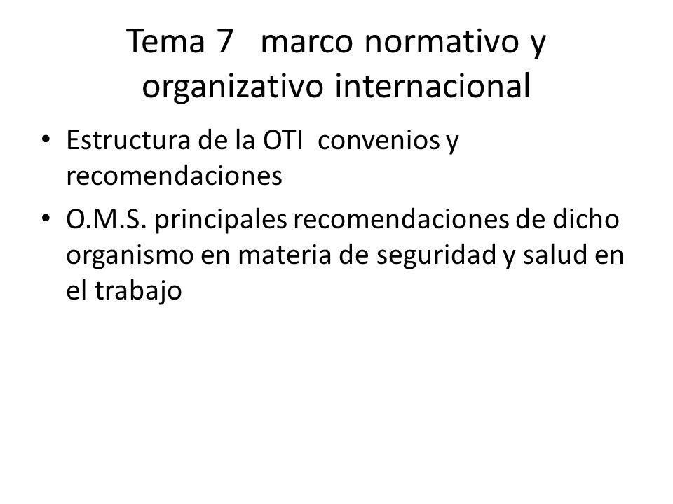 Tema 7 marco normativo y organizativo internacional