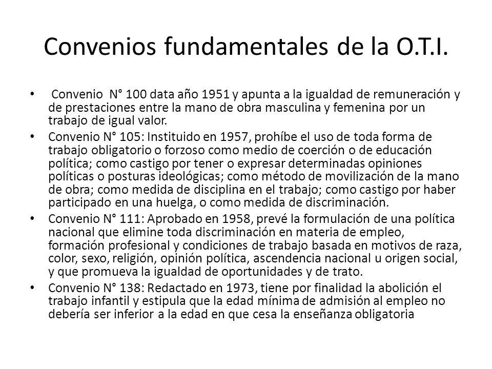 Convenios fundamentales de la O.T.I.