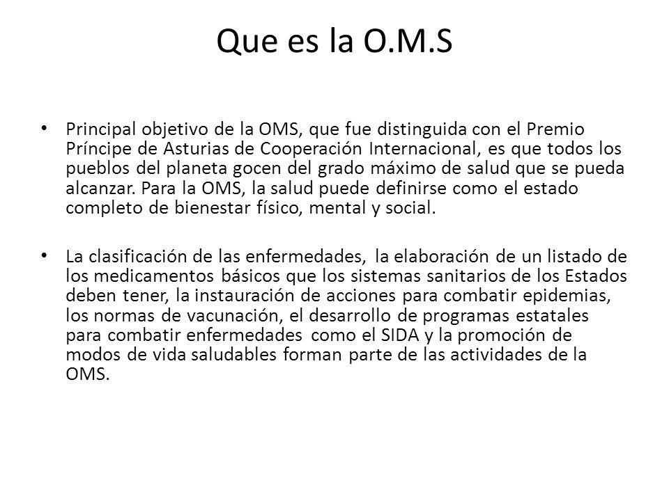 Que es la O.M.S