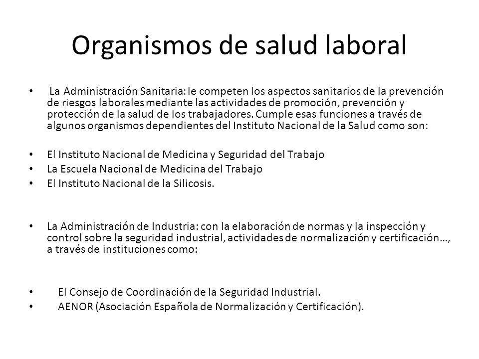 Organismos de salud laboral