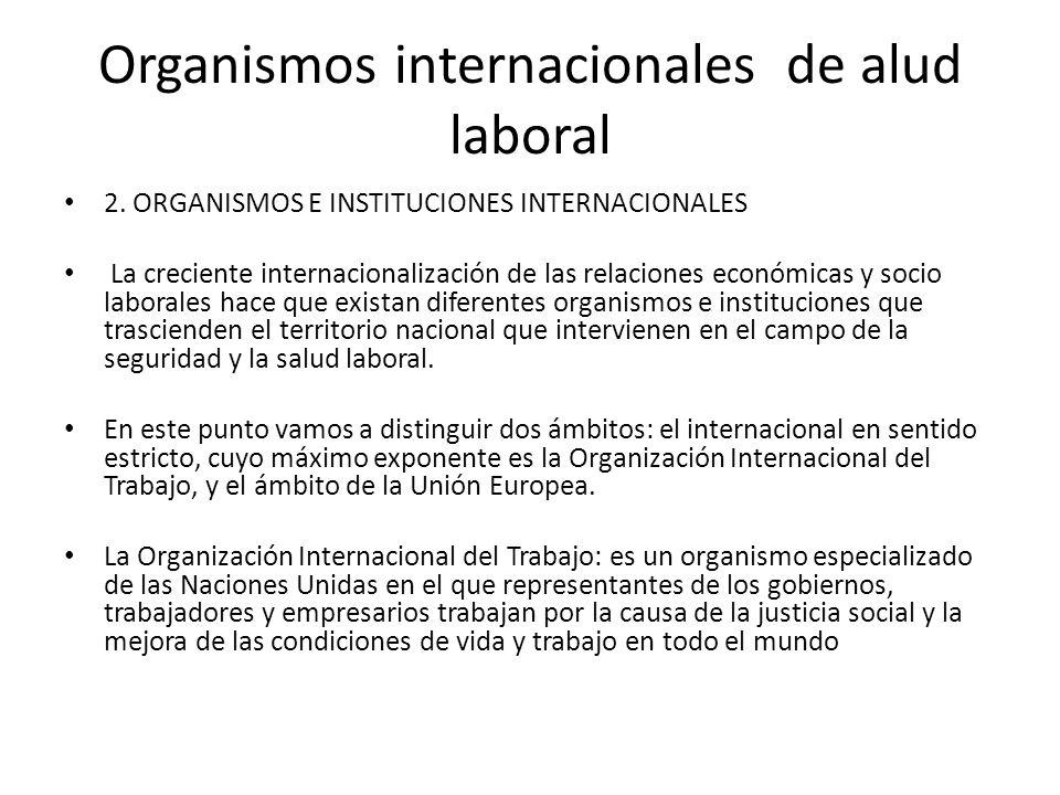Organismos internacionales de alud laboral