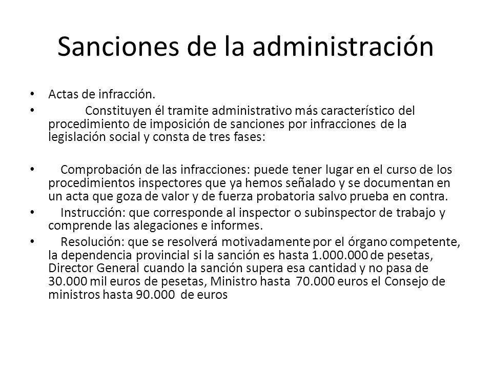 Sanciones de la administración