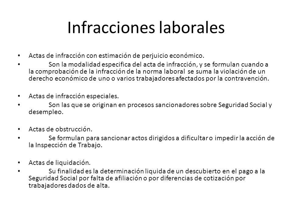 Infracciones laborales