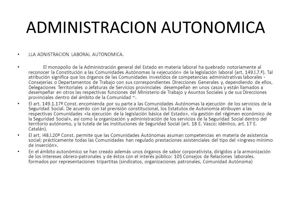 ADMINISTRACION AUTONOMICA
