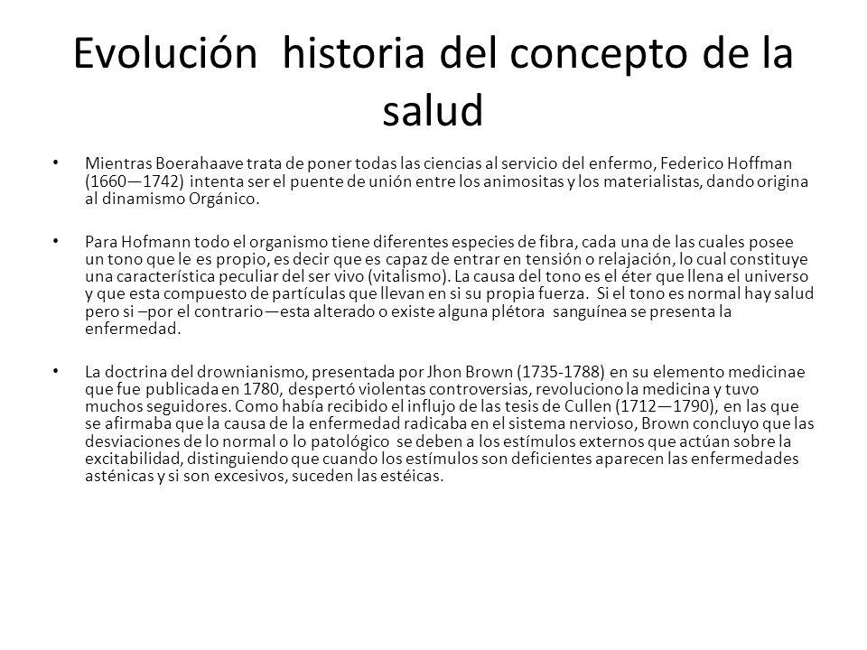 Evolución historia del concepto de la salud