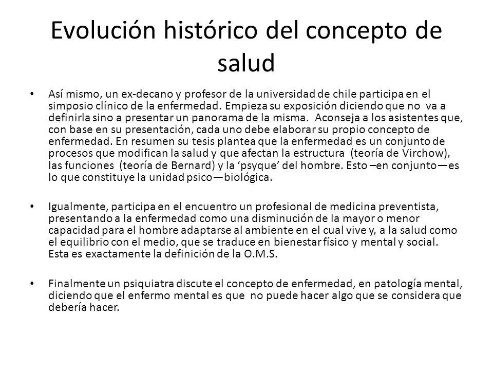 Evolución histórico del concepto de salud