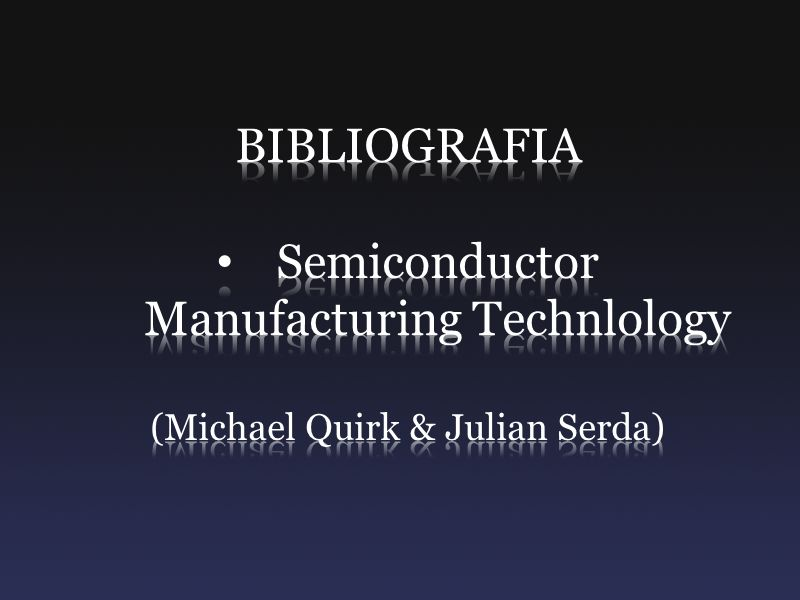 Semiconductor Manufacturing Technlology