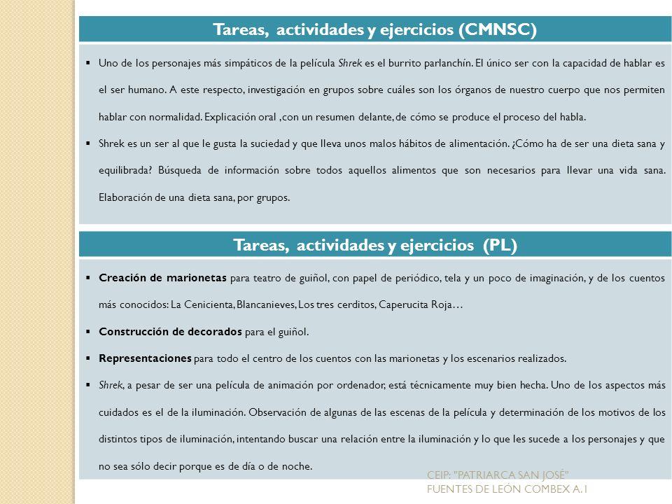 Tareas, actividades y ejercicios (CMNSC)