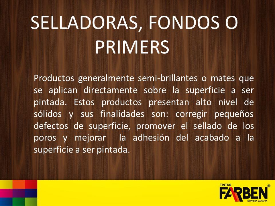 SELLADORAS, FONDOS O PRIMERS