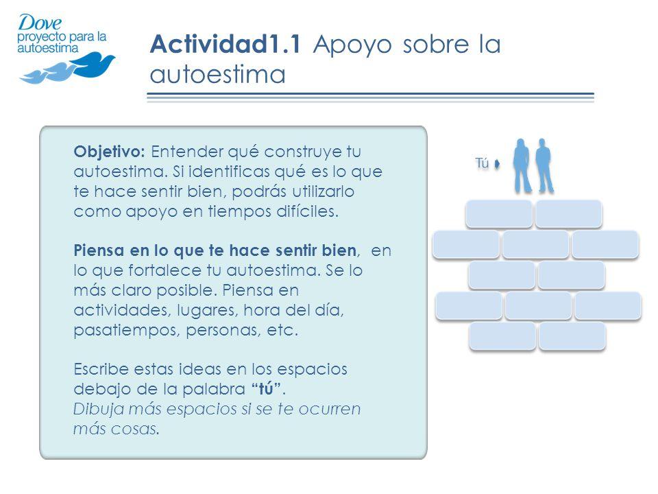 Actividad1.1 Apoyo sobre la autoestima