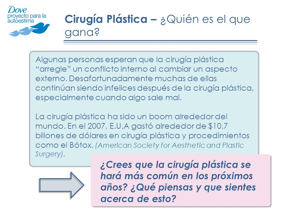 Cirugía Plástica – ¿Quién es el que gana
