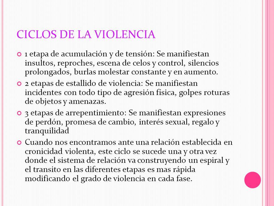 CICLOS DE LA VIOLENCIA