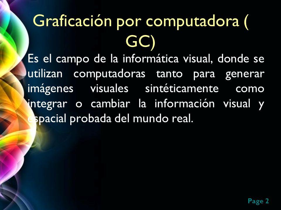 Graficación por computadora ( GC)