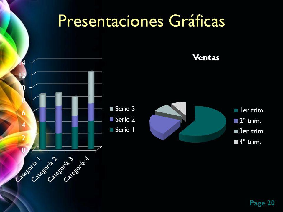 Presentaciones Gráficas