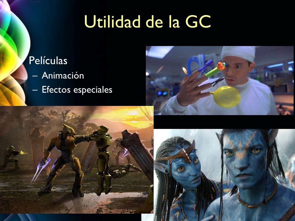 Utilidad de la GC Películas Animación Efectos especiales