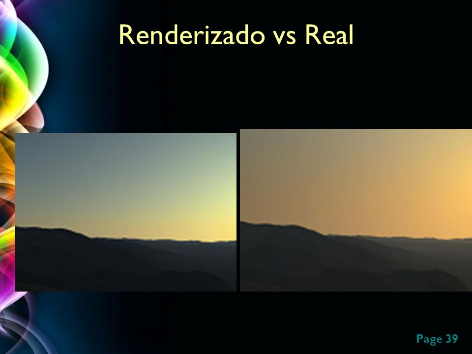 Renderizado vs Real