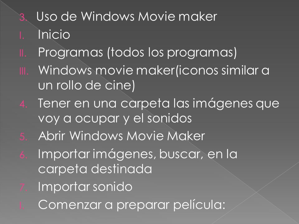 Uso de Windows Movie maker