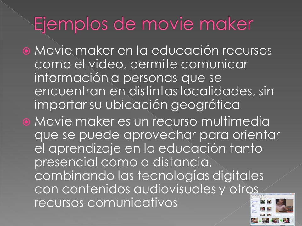 Ejemplos de movie maker