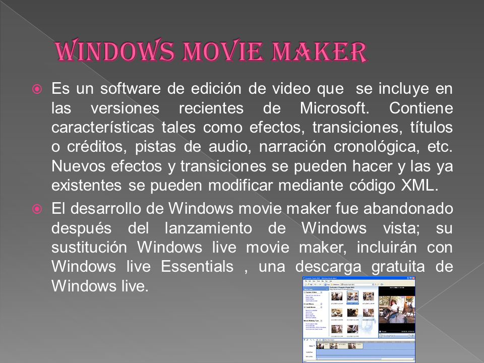 Windows movie maker