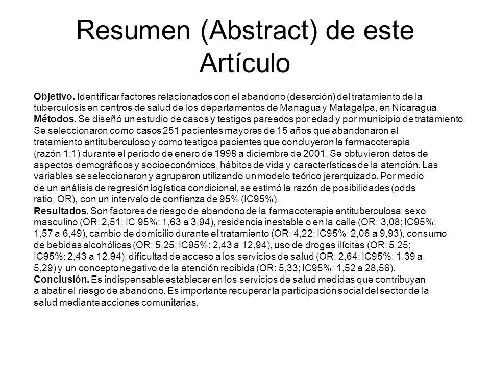 Resumen (Abstract) de este Artículo