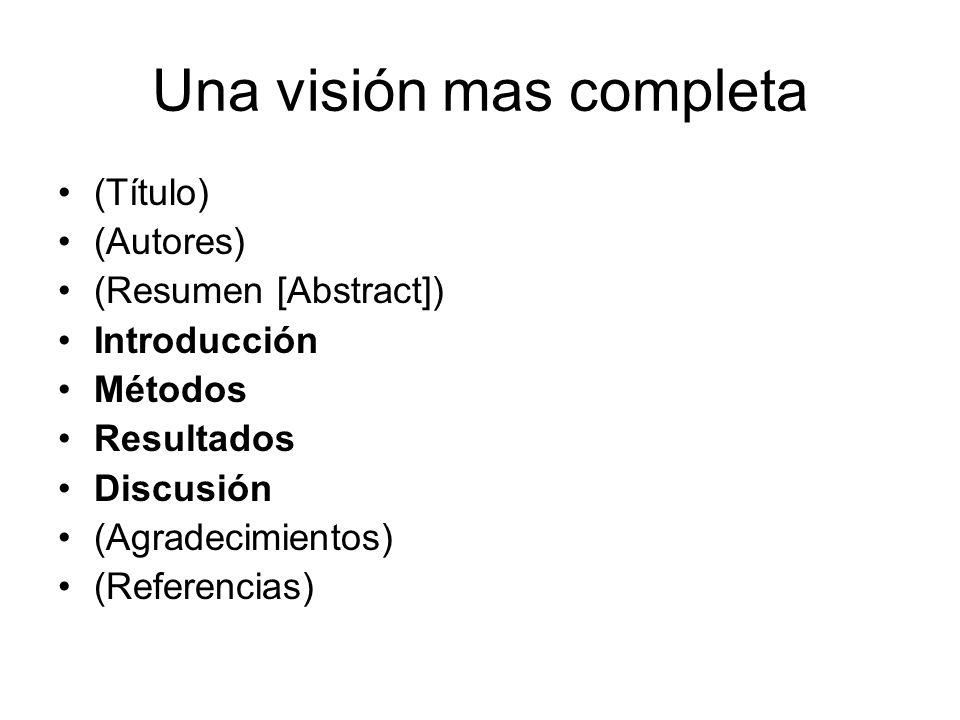 Una visión mas completa
