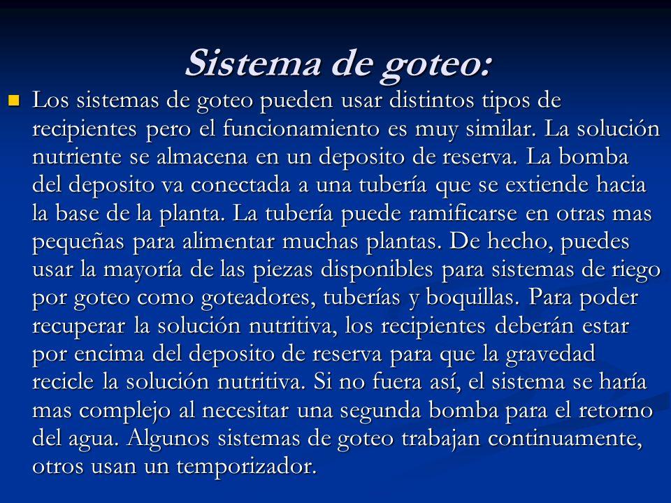 Sistema de goteo: