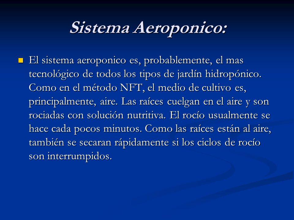 Sistema Aeroponico: