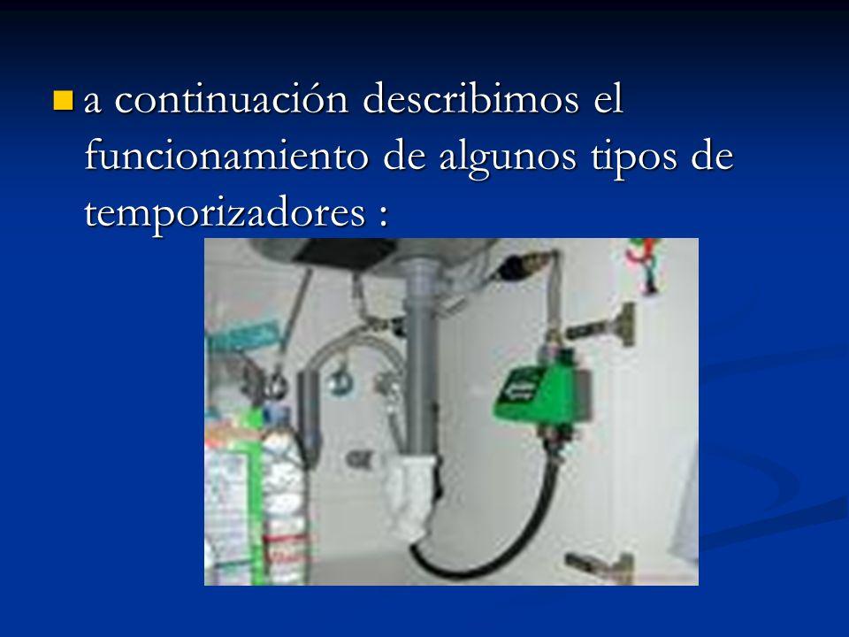 a continuación describimos el funcionamiento de algunos tipos de temporizadores :