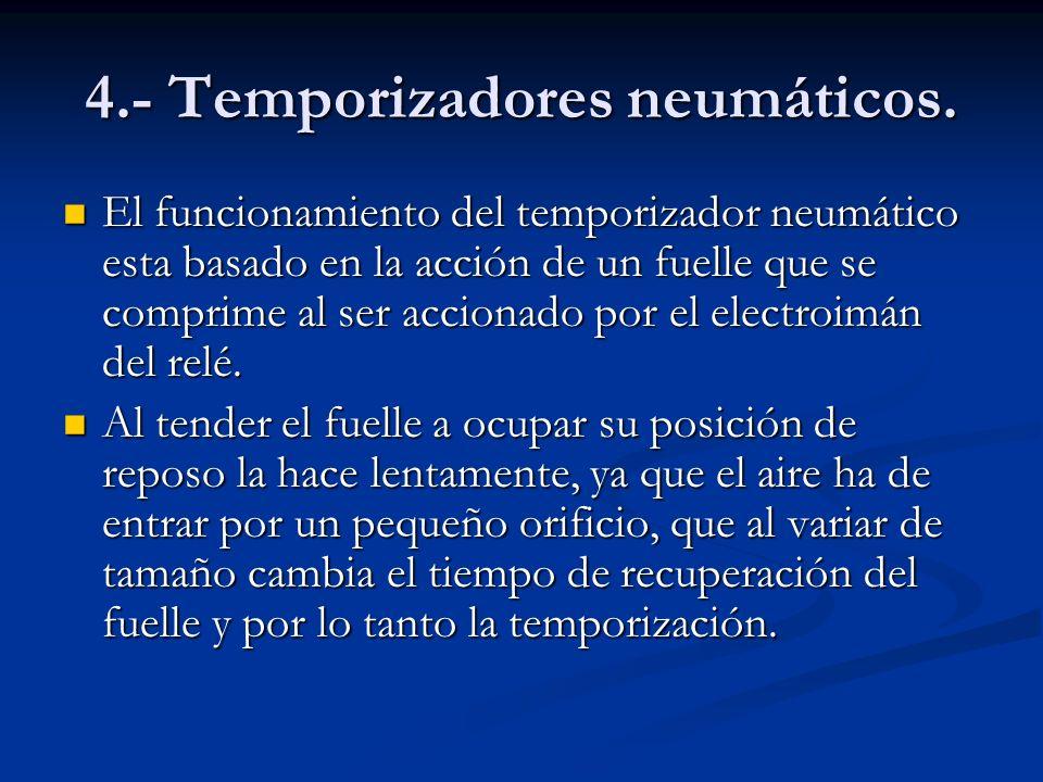 4.- Temporizadores neumáticos.